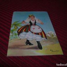 Postales: ANTIGUA POSTAL DE TRAJE REGIONAL DE TENERIFE.. Lote 154675266