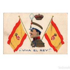 Postales: MONARQUÍA. ALFONSO XIII. VIVA EL REY. Lote 155025646