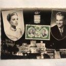 Postales: POSTAL, PRINCIPES DE MONACO. RAINERO Y GRACE KELLY (A.1956). Lote 155203601