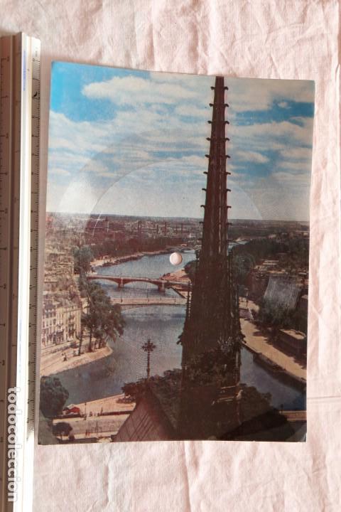 POSTAL SINGLE PARIS MUSICARTE Nº 111 LA SEINE-LA SEINE POR RAYMOND FALGAYRAC FOTO NOTRE DAME (Postales - Postales Temáticas - Especiales)