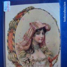 Postales: (PS-59791)POSTAL ILUSTRADA-SELLO GRAN SALON PELUQUERIA IDEAL.-ARCHIVO RELIEVES BASA & PAGES. Lote 155655510