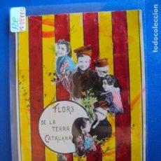 Postales: (PS-59770)POSTAL CATALANISTA - FLORS DE LA TERRA CATALANA - ARCHIVO RELIEVES BASA & PAGES. Lote 155661166