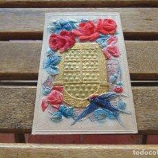 Postales: ANTIGUA TARJETA POSTAL CON RELIEVE TROQUELADA Y DECORADA . Lote 155776066