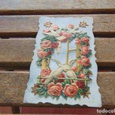 Postales: ANTIGUA TARJETA POSTAL CON RELIEVE TROQUELADA Y DECORADA . Lote 155776406