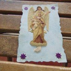 Postales: ANTIGUA TARJETA POSTAL CON RELIEVE TROQUELADA Y DECORADA . Lote 155776490