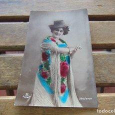 Postales: TARJETA POSTAL COLOREADA PAQUITA ESCRIBANO CIRCULADA. Lote 155783226
