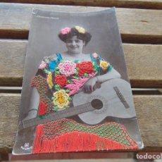 Postales: TARJETA POSTAL COLOREADA CANDELARIA MEDINA CIRCULADA. Lote 155783350