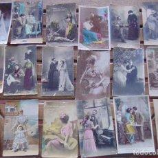 Postales: TARJETA POSTAL COLOREADA LOTE DE 18 POSTALES TEMAS VARIOS CIRCULADAS. Lote 155784506