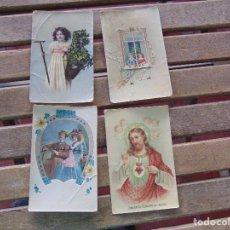 Postales: TARJETA POSTAL COLOREADA LOTE DE 4 POSTALES TEMAS VARIOS CIRCULADAS. Lote 155784626