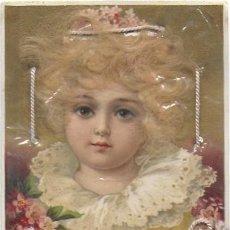Postales: P- 9124. POSTAL ILUSTRACION MUJER CON PELO DE MOHAIR.. Lote 158224538