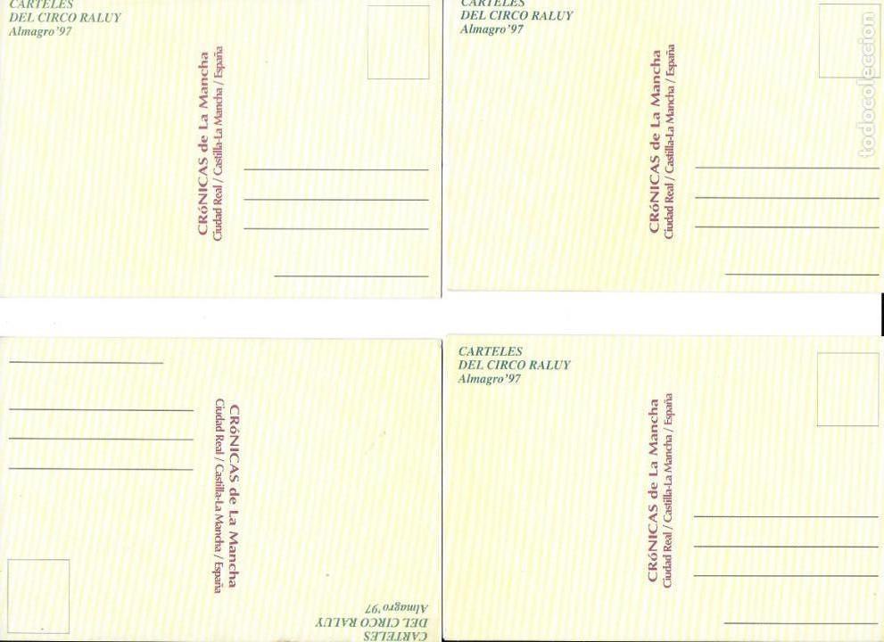 Postales: P-9131. LOTE DE 4 POSTALES CIRCO RALUY. FLOORESCENTES. - Foto 6 - 158251942