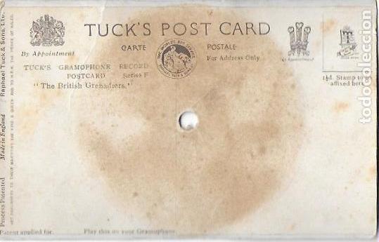 Postales: P- 9146. POSTAL CON DISCO. TUCK'S GRAMOPHONERECORD. SERIES F.THE BRITISH GRENADRERS. - Foto 2 - 158360510