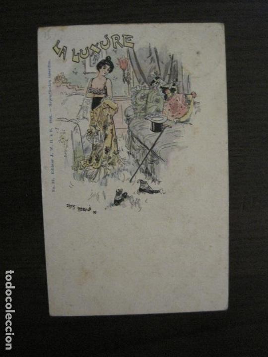 Postales: LOS 7 PECADOS CAPITALES-COL·COMPLETA DE 7 POSTALES ILUSTRADAS POR JACK ABEILLE-VER FOTOS-(58.260) - Foto 4 - 158439274
