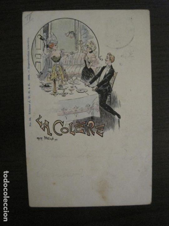 Postales: LOS 7 PECADOS CAPITALES-COL·COMPLETA DE 7 POSTALES ILUSTRADAS POR JACK ABEILLE-VER FOTOS-(58.260) - Foto 8 - 158439274
