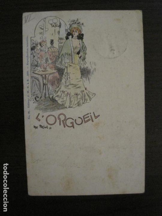 Postales: LOS 7 PECADOS CAPITALES-COL·COMPLETA DE 7 POSTALES ILUSTRADAS POR JACK ABEILLE-VER FOTOS-(58.260) - Foto 12 - 158439274