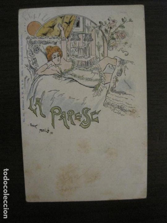 Postales: LOS 7 PECADOS CAPITALES-COL·COMPLETA DE 7 POSTALES ILUSTRADAS POR JACK ABEILLE-VER FOTOS-(58.260) - Foto 14 - 158439274
