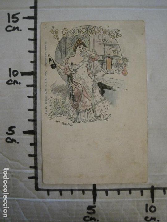 Postales: LOS 7 PECADOS CAPITALES-COL·COMPLETA DE 7 POSTALES ILUSTRADAS POR JACK ABEILLE-VER FOTOS-(58.260) - Foto 16 - 158439274
