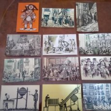 Postales: LOTERIA NACIONAL 1974, SERIE B COMPLETA, GRABADOS.. Lote 159041862