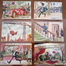 Postales: LOTERIA NACIONAL, 1970, DIBUJOS DE MINGOTE, 6 POSTALES. Lote 159044970