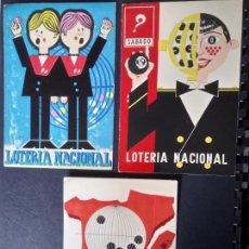 Postales: LOTERIA NACIONAL 1978, CARTEL ES, 3 POSTALES. Lote 159046926