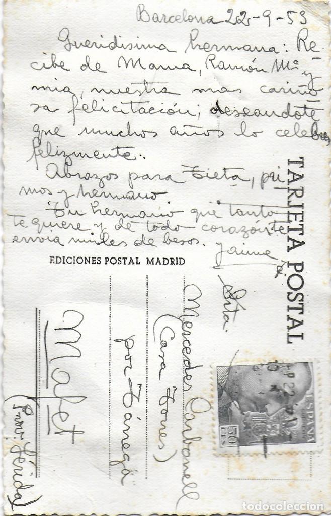 Postales: P- 9240. POSTAL BORDADA. MADRID. AÑO 1953. - Foto 2 - 159058586