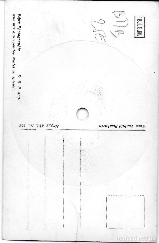 Postales: P- 9275. POSTAL CON DISCO. HERZEM IM 3/4 TAKT. - Foto 2 - 159102570