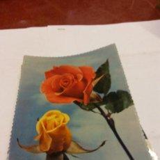Postales: BJS.LINDA POSTAL ROSAS DE COLORES.ESCRITA.COMPLETA TU COLECCION.. Lote 159612310