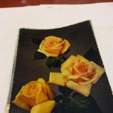 Postales: BJS.LINDA POSTAL FLORES ROSAS.ESCRITA.COMPLETA TU COLECCION.. Lote 159612826