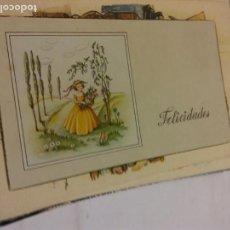 Postales: BJS.LINDA POSTAL FELICIDADES.ESCRITA.COMPLETA TU COLECCION.. Lote 159614910