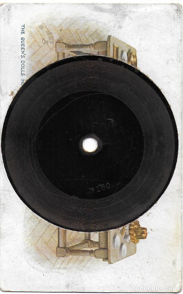 P-9293. POSTAL CON DISCO. TUCK'S GRAMOPHONE RECORD. THE QUEEN'S DOLLS (Postales - Postales Temáticas - Especiales)