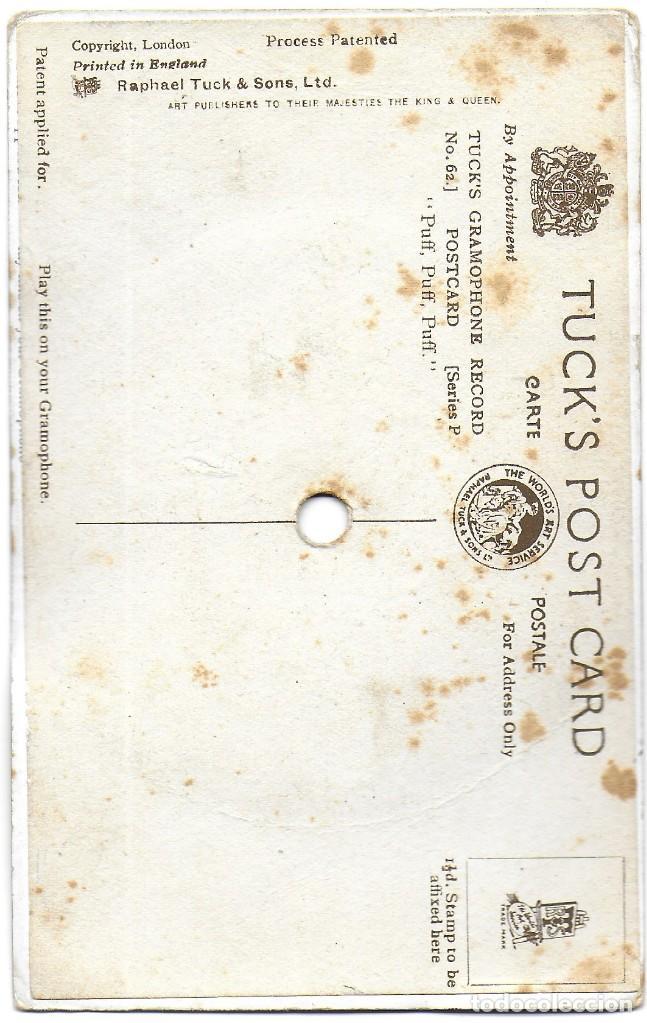 Postales: P-9293. POSTAL CON DISCO. TUCK'S GRAMOPHONE RECORD. THE QUEEN'S DOLLS - Foto 2 - 159634626