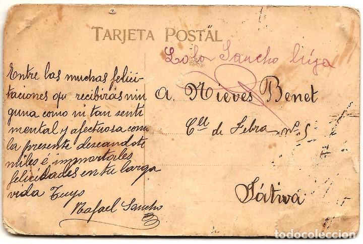 Postales: PRECIOSA Y ANTIGUA POSTAL CON RELIEVE Y PUNTILLA - MANUSCRITA Y SIN CIRCULAR - Foto 2 - 160395422