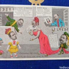 Postales: ALFONSO XIII POSTAL SATÍRICA 1905. Lote 160803082