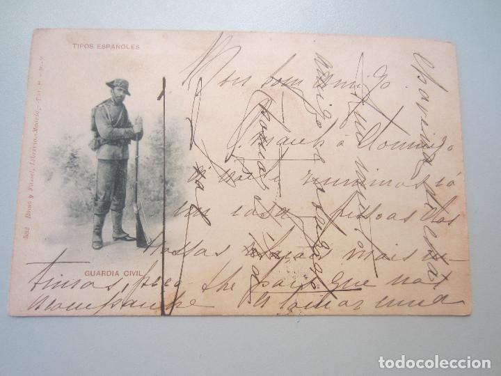 POSTAL ROMO Y FUSSEL HAUSER Y MENET TIPOS ESPAÑOLES GUARDIA CIVIL (Postales - Postales Temáticas - Especiales)