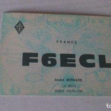 Postales: TARJETA RADIOAFICIONADO FRANCIA. Lote 161483306