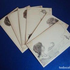 Postales: (PS-60220)LOTE DE 6 POSTALES ILUSTRADAS. Lote 161890206