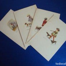 Postales: (PS-60215)LOTE DE 4 POSTALES ILUSTRADAS. Lote 161891282