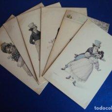 Postales: (PS-60214)LOTE DE 6 POSTALES ILUSTRADAS. Lote 161891466