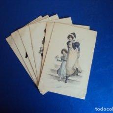 Postales: (PS-60211)LOTE DE 6 POSTALES ILUSTRADAS. Lote 161891990