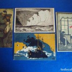 Postales: (PS-60209)LOTE DE 4 POSTALES ILUSTRADAS. Lote 161906722