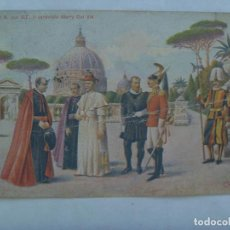 Postales: POSTAL DE DE ITALIA: S.S. PIO X CON CARDENAL MERRY DEL VAL. PRINCIPIOS DE SIGLO. CIRCULADA EN 1919. Lote 162112754