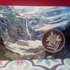 Postales: POSTAL (PERFUMADA) AUTÉNTICA FLOR DE NIEVE (EDELWEIS) - ALPES FRANCIA (AÑOS 70) - REF: 189/199. Lote 162384274