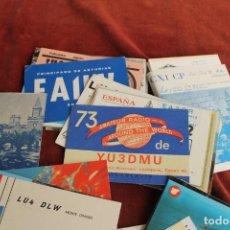 Postales: LOTE MAS DE 50 TARJETAS RADIOAFICIONADO ESPAÑOLAS Y EXTRANJERAS, AÑOS 70-80-90. Lote 163725490