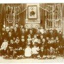 Postales: POSTAL FOTOGRÁFICA GRUPO DE ALUMNOS DE LA ESCUELA ESPAÑOLA DE MARSELLA. SIN DIVIDIR. CIRCULADA. Lote 164619522