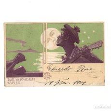 Postales: HOTEL DE LONDRES NAPLES 1902. Lote 164974898