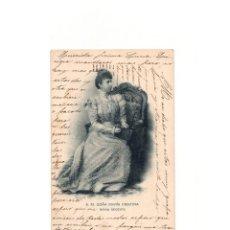 Postales: MONARQUIA.- S.M. DOÑA MARÍA CRISTINA. REINA REGENTE.. Lote 165780386