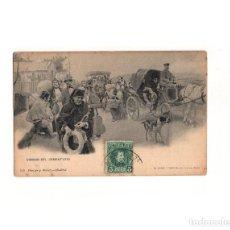Postales: CAMINO DEL CEMENTERIO. DE BLANCO Y NEGRO. HAUSER Y MENET.. Lote 165785794