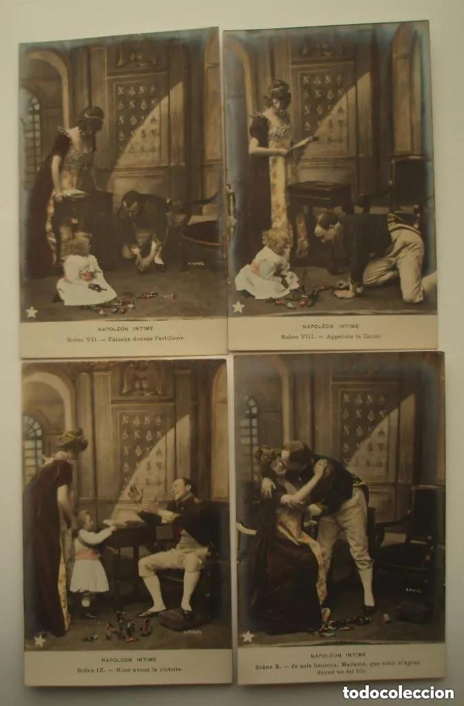 Postales: NAPOLEÓN INTIME. LOTE DE 10 POSTALES COLOREADAS. COLECCIÓN COMPLETA. EDITOR HENRI MANUEL. - Foto 3 - 166595894