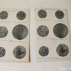 Postales: PAREJA DE POSTALES CON MONEDAS MEDIEVALES. MUSEO ARQUEOLÓGICO DE MADRID. Lote 168670740