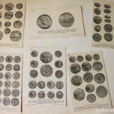 Postales: LOTE DE 6 POSTALES DE MONEDAS ROMANAS. ROMAN REPUBLIC COINS. BRITISH MUSEUM POST CARD. Lote 168671460